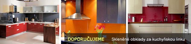 Skleněné obklady kuchyň